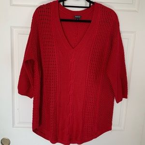 Torrid Cable Knit 3/4 Sleeve Sweater Wool Blend 2